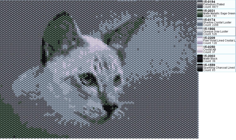 схема из бисера картина