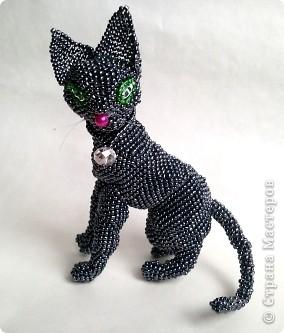 котёнок из бисера, котёнок из бисера схема, котёнок из бисера объёмный