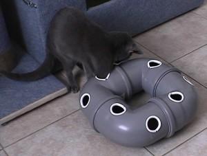 Игрушка для кошек своими руками Труба