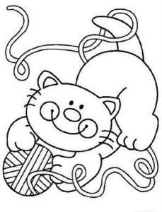 Трафареты кошек для рукоделия