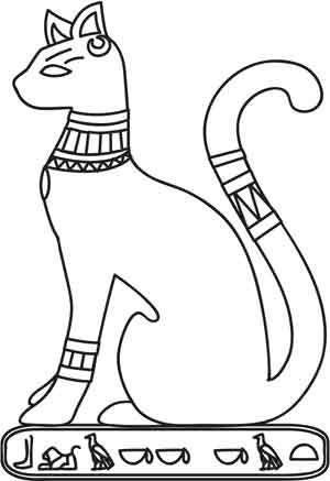 Рисунки египетских кошек карандашом