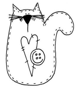 Трафареты и шаблоны кошек для рукоделия