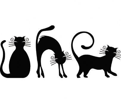 Контурная вышивка кошек 42