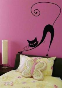Трафареты кошек для интерьера