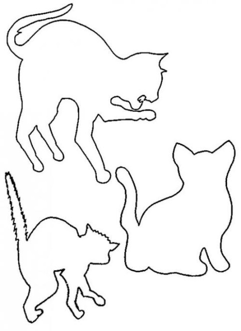 Трафареты с кошками своими руками 43
