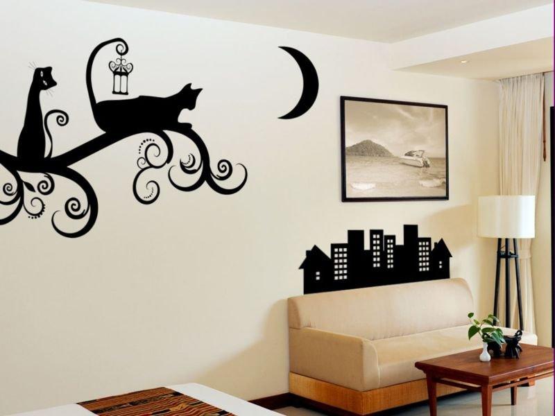 Трафарет для рисунка на стене своими руками