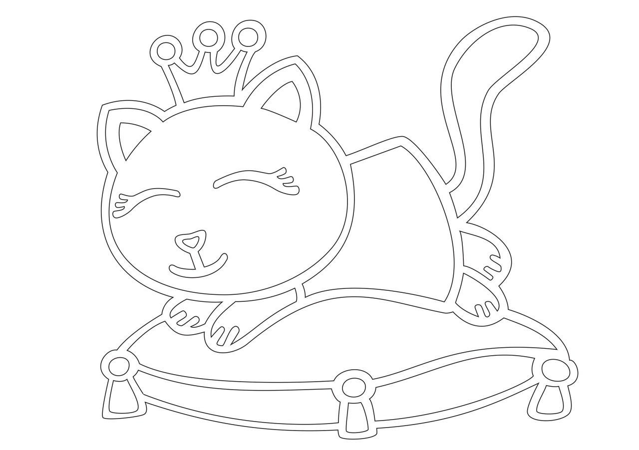 подушки-коты вязаные схемы размеры