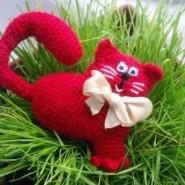 Кот сердце крючком