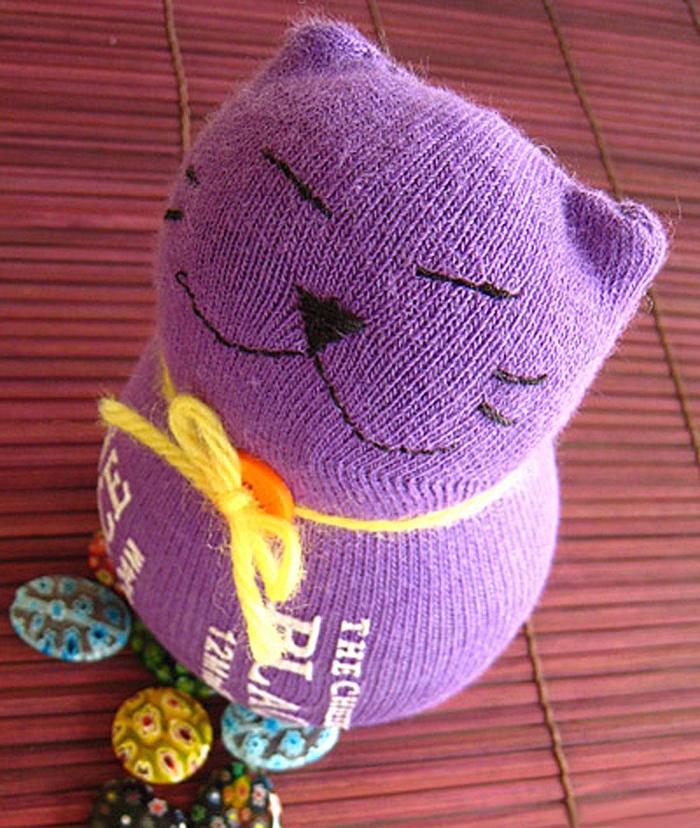Игрушки для котов своими руками из носков фото 597