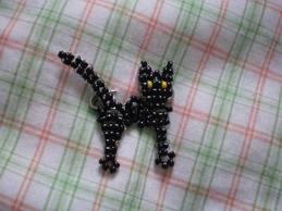 Простой котёнок из бисера