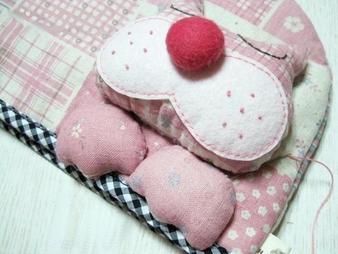 грелка на чайник Розовая кошечка