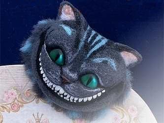 Брошь своими руками - чеширский кот