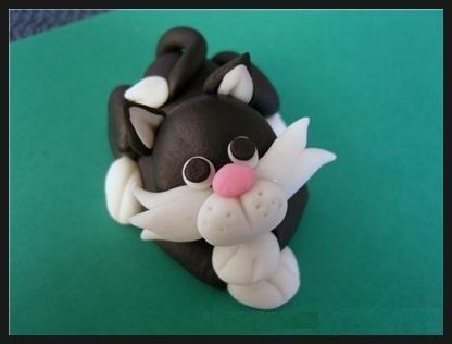 Кот из холодного фарфора