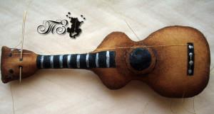 Кофейная игрушка - Кот с гитарой