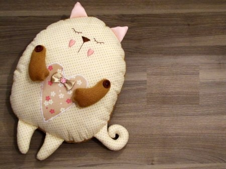 Подушка кошка своими руками