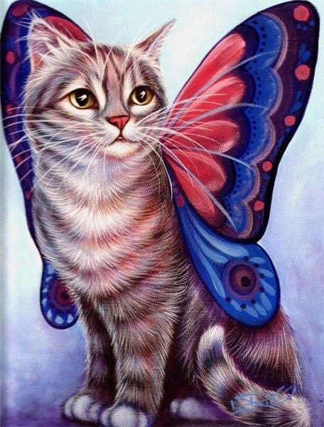 Мастер класс — кошка с крыльями бабочки