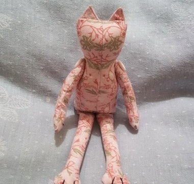 Тильда Розовая-кошка