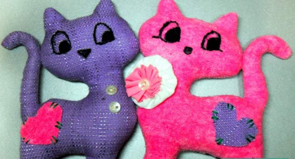 Мастер-класс игрушка — Кот и кошка