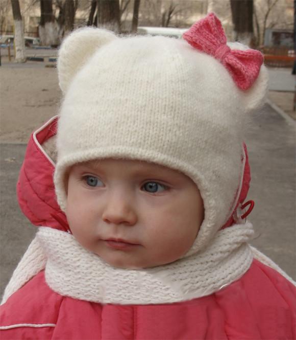 Детская шапка Кошечка