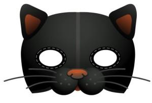 Маска Чёрный кот