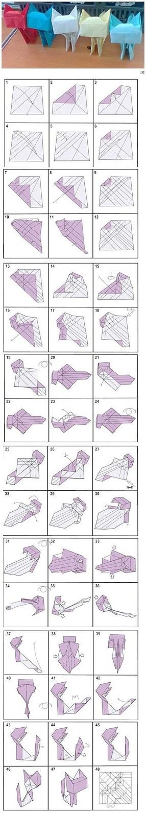 Классическое оригами Котики
