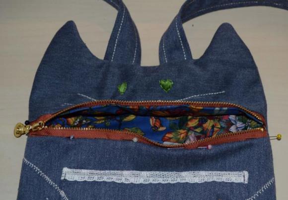 рюкзак Кот с рыбкой