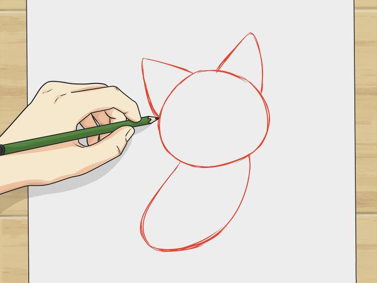 Учимся рисовать котёнка