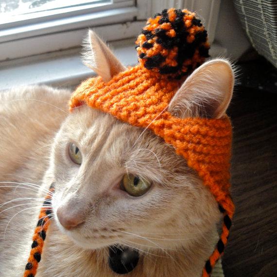 Вяжем шапочку для кошки