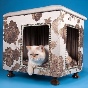 Делаем домик для кота своими руками из разных материалов