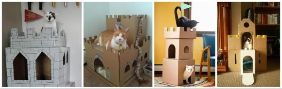 Дом для кошки из коробки