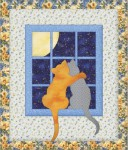 Панно «Коты и полнолуние»