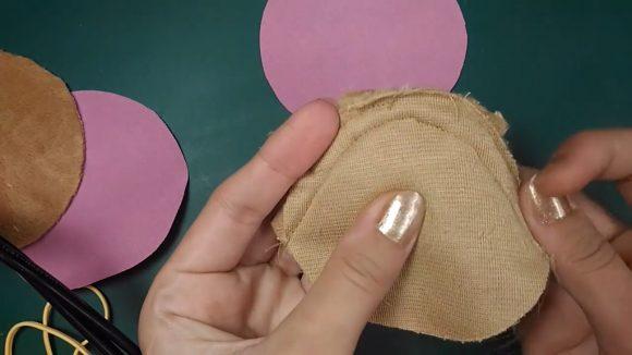 Чехол для наушников из меха