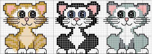 Вышивать крестиком коты