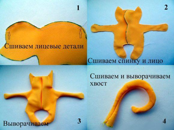 Рыжий котик с вышивкой мастер-класс