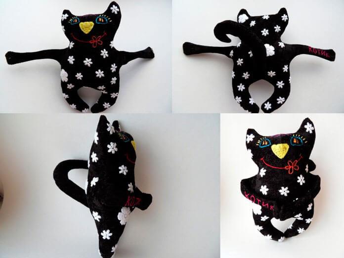Чёрный кот своими руками 2