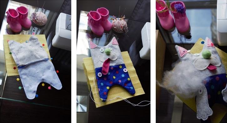 Шьём игрушку Кот для любимого малыша