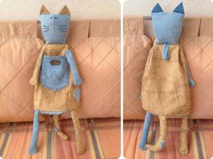 Пакетница Кот и Кошка (мастер-класс)