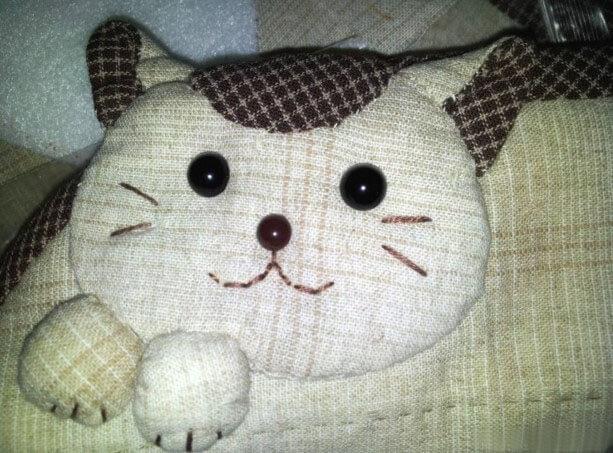 Кошелёк Кошка из светлого хлопка (мастер-класс)