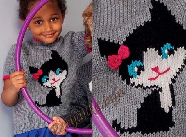 Серый свитер для девочки