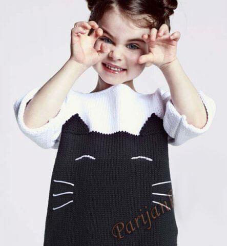 Простой пуловер с котом