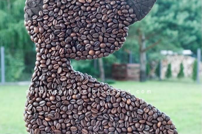 Кошка из кофейных зерен (мастер-класс)