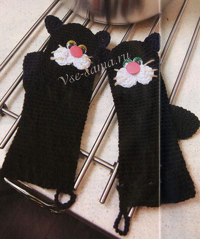 Прихватка Чёрный кот