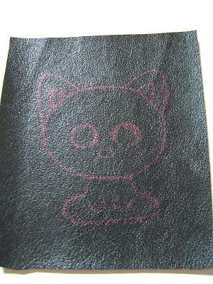 Брошка бисером - Чёрный кот