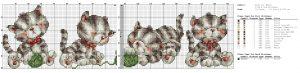 Схемы для вышивки Коты и Кошки