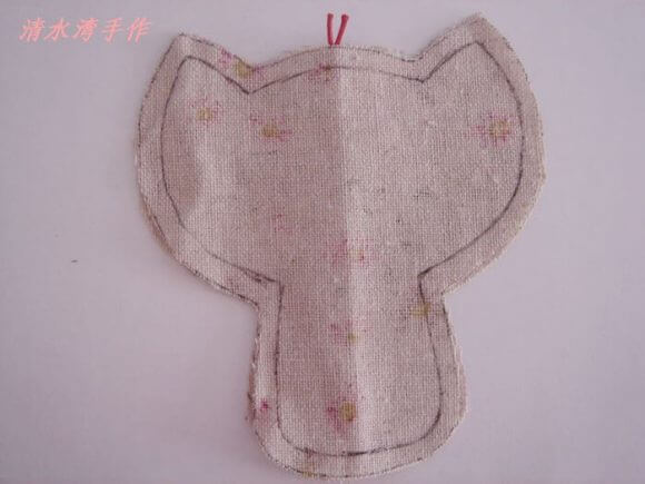 Брелок из ткани Котик - мк