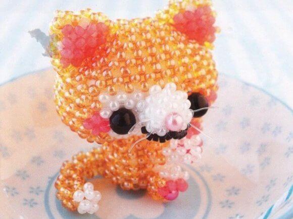 Японский бисер — схемы Кот и Собака