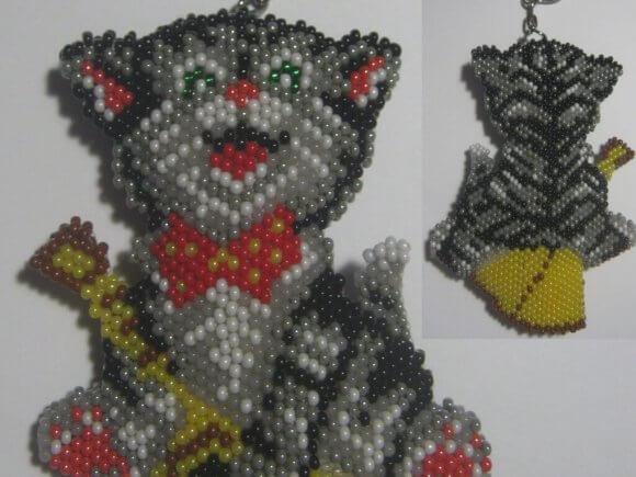 Японский бисер - схемы Кот и Собака