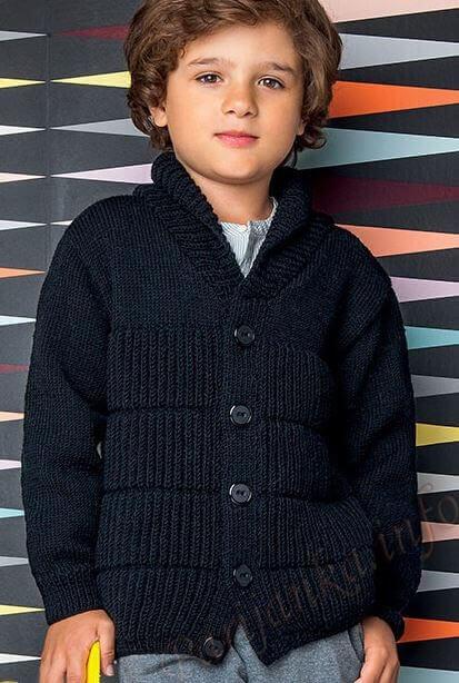 кофта для мальчика спицами схемы с описанием
