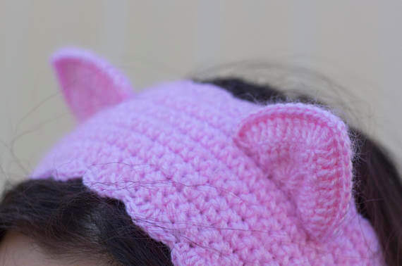db4665058421 Повязка Киска на голову для девочки крючком - пособие для начинающих