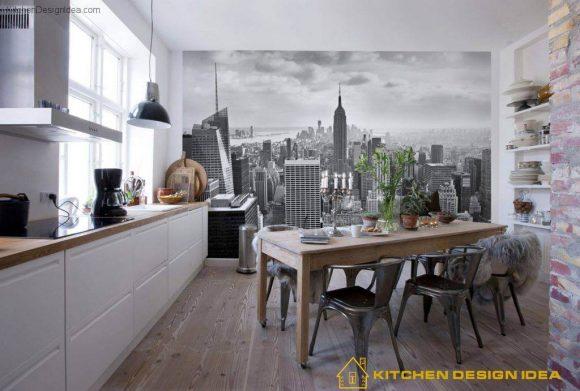 Использование фотообоев на кухне. Современные тенденции в дизайне